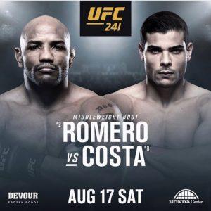 Видео боя Йоэль Ромеро - Пауло Коста UFC 241