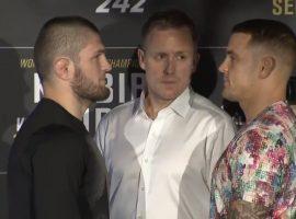 Битва взглядов UFC 242: Хабиб Нурмагомедов - Дастин Порье. Видео