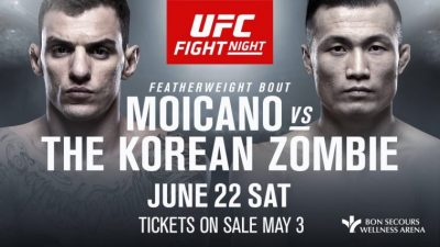 Бои UFC Fight Night 154 Корейский Зомби – Ренато Мойкано основной кард
