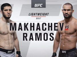 Видео боя Ислам Махачев - Дави Рамос UFC 242