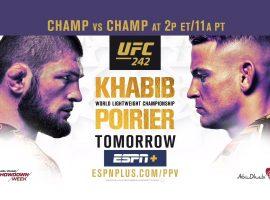 Прямая трансляция UFC 242 Абу-Даби Хабиб Нурмагомедов - Дастин Порье