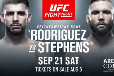 Битва взглядов Яир Родригес - Джереми Стивенс UFC Fight Night 159