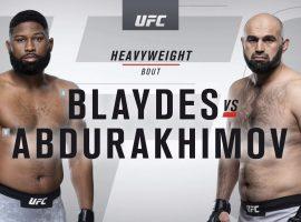 Видео боя Шамиль Абдурахимов – Кертис Блейдс UFC 242