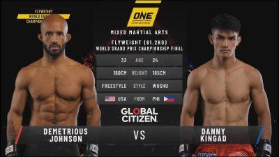 Видео боя Диметриус Джонсон - Дэнни Кингад ONE FC Финал Гран-при