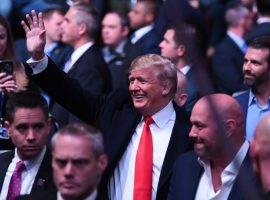Дональд Трамп посетил турнир UFC и поддержал бойца выигравшего пояс