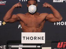 Результаты взвешивания участников турнира UFC on ESPN 9: Вудли – Бернс