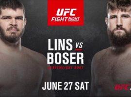 Филипе Линс — Таннер Босер. Полное видео. UFC