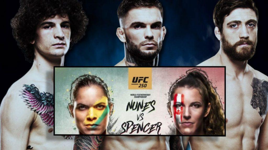 UFC 250 Нунис vs. Спенсер видео боев