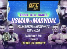 Результаты турнира UFC 251: Усман – Масвидаль, Волкановски - Холлоуэй 2, Ян - Альдо
