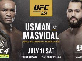 Шансы 3 к 1: коэффициенты на бой Камару Усмана и Хорхе Масвидаля