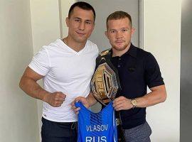 Пётр Ян поблагодарил двукратного Олимпийского чемпиона по борьбе Романа Власова