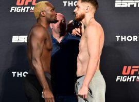 Результаты турнира UFC on ESPN+ 31: Брансон – Шахбазян