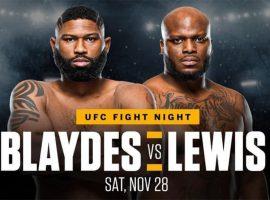 Бой Блэйдс vs. Льюис станет главным событием UFC 28 ноября