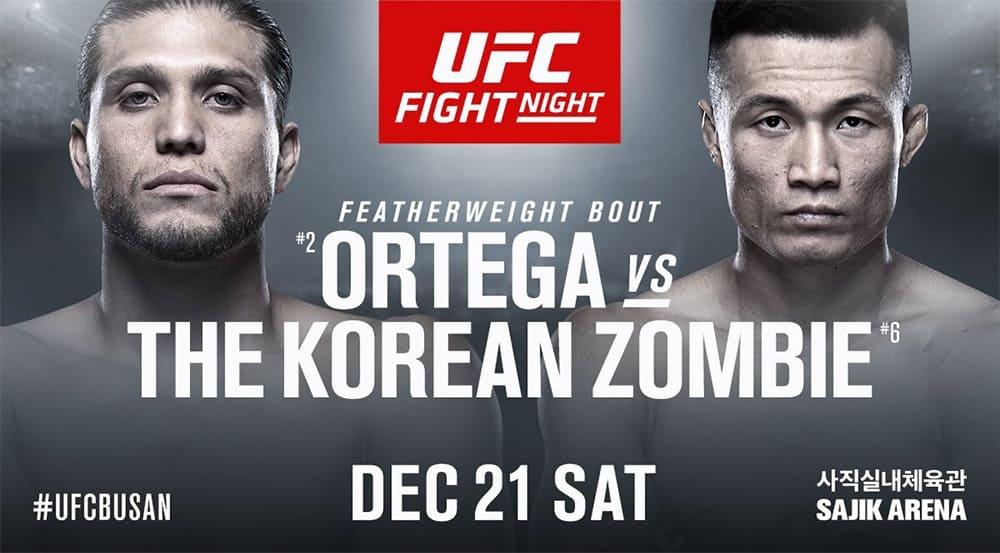 UFC Fight Night: Ортега vs Джунг