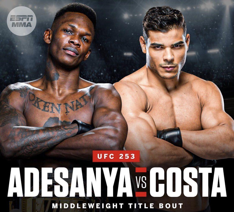 UFC 253: Адесанья - Коста