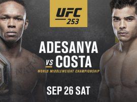 Полный файткард турнира UFC 253: Исраэл Адесанья vs. Пауло Коста
