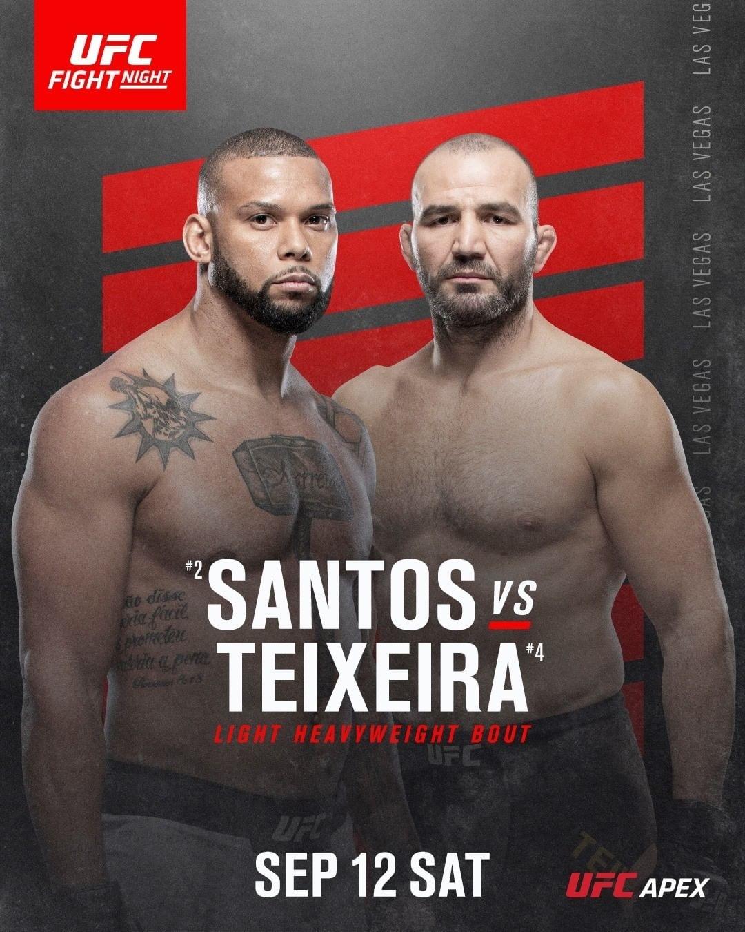 UFC Fight Night: Сантос - Тейшейра