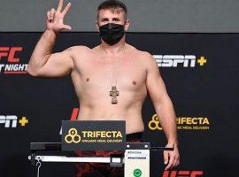 Результаты взвешивания участников турнира UFC on ESPN +40: Тиаго Сантос vs Гловер Тейшейра