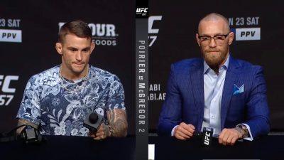 Пресс-конференция Порье МакГрегор 2, UFC 257