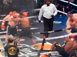Дацик выбил соперника за пределы ринга