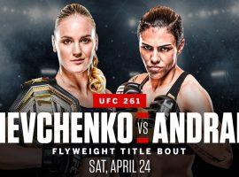 24 апреля Шевченко проведёт пятую защиту титула. Её соперницей станет Джессика Андраде