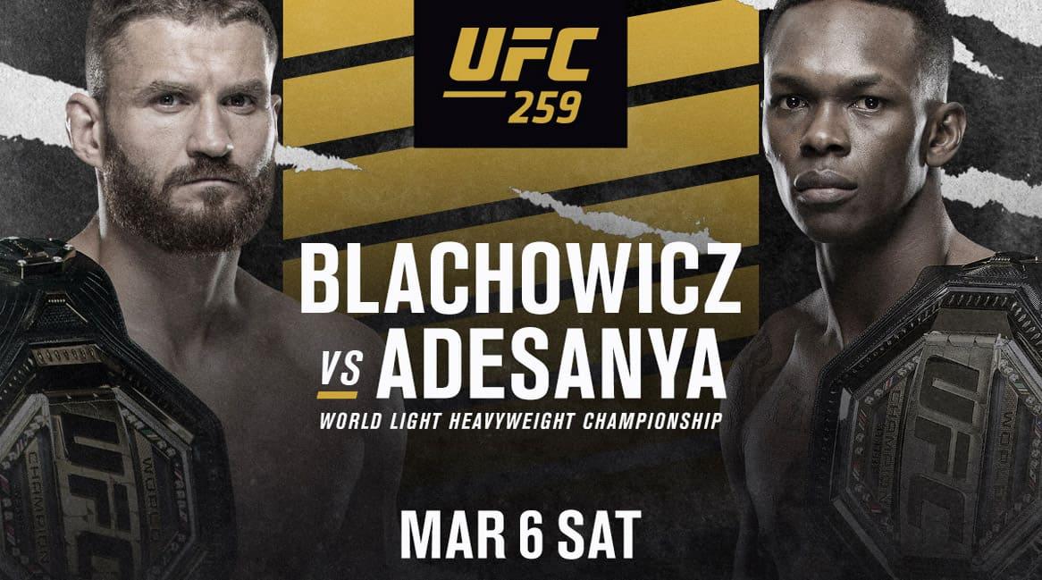 UFC 259: Блахович - Адесанья