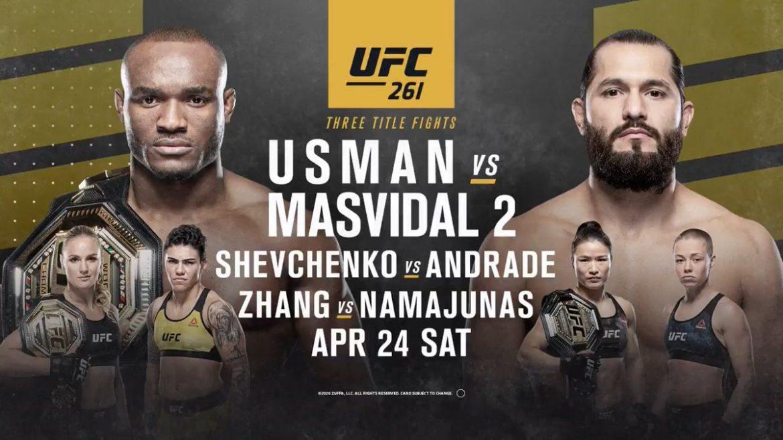 UFC 261: УСМАН VS МАСВИДАЛЬ