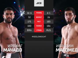 Ирвинг Ромеро Мачадо vs Ибрагим Магомедов - видео боя ACA 119