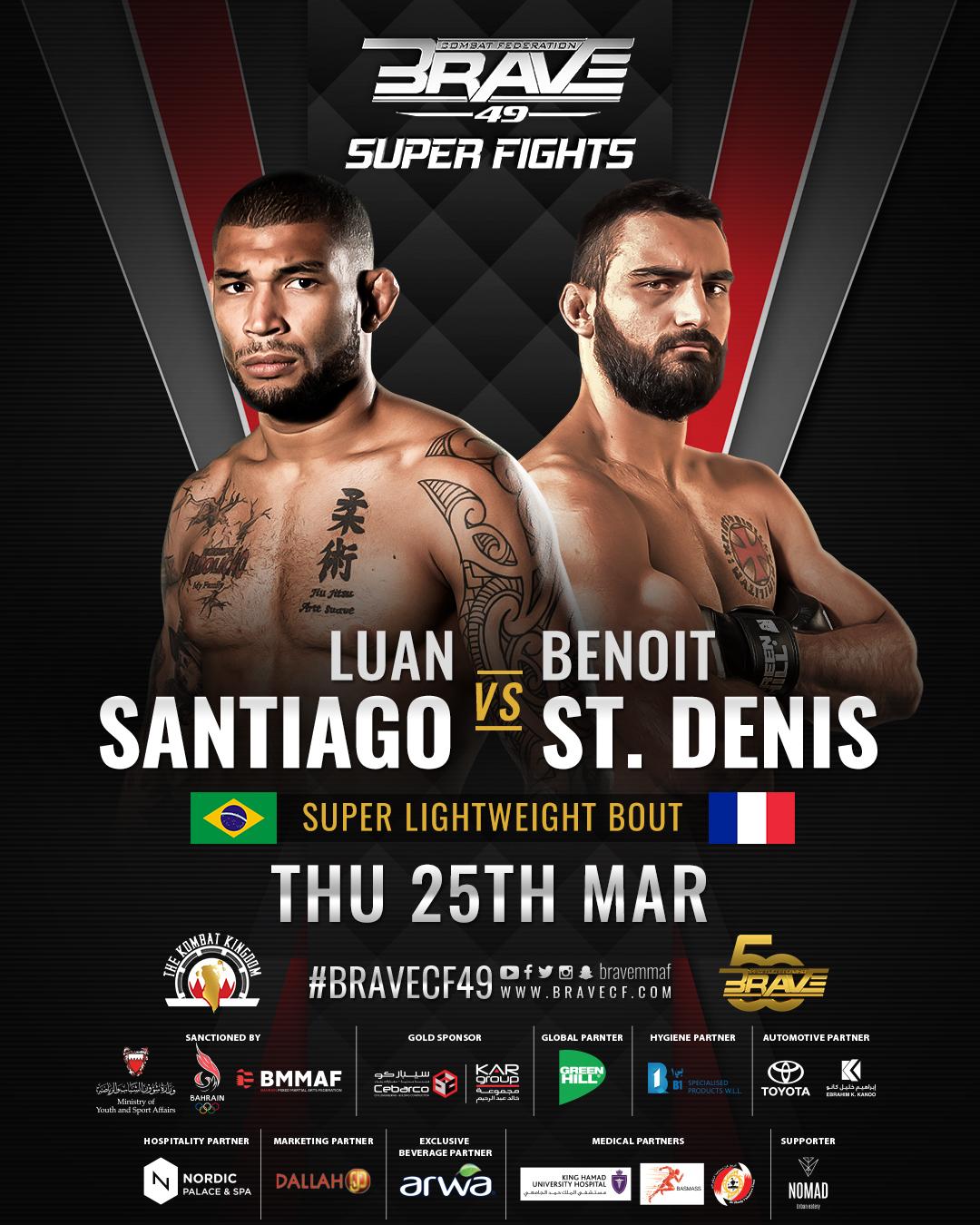 Луан Сантьяго — Бенуа Сен-Дени прогноз и ставка на бой