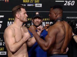 Битва взглядов на UFC 260