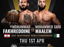 Мохаммад Фахреддин — Мохамед Саид Маалем: прогноз и ставка на бой Brave CF 50