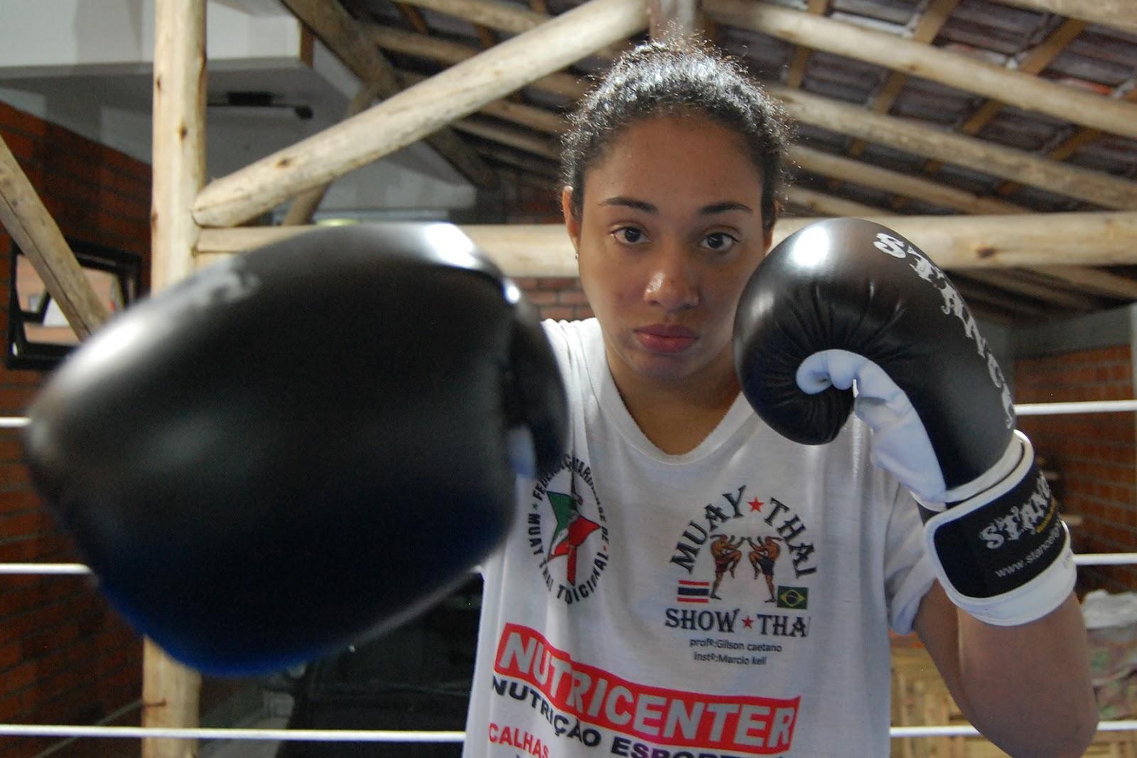 Тайла Сантос на тренировке