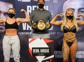 Обворожительная боксёрша Эбани Бриджес вышла на взвешивание в нижнем белье